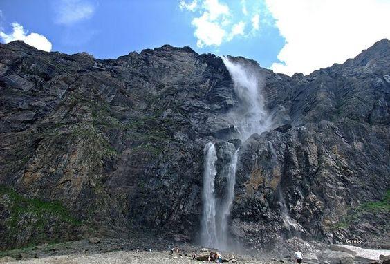 A los pies de la cascada de Gavarnie