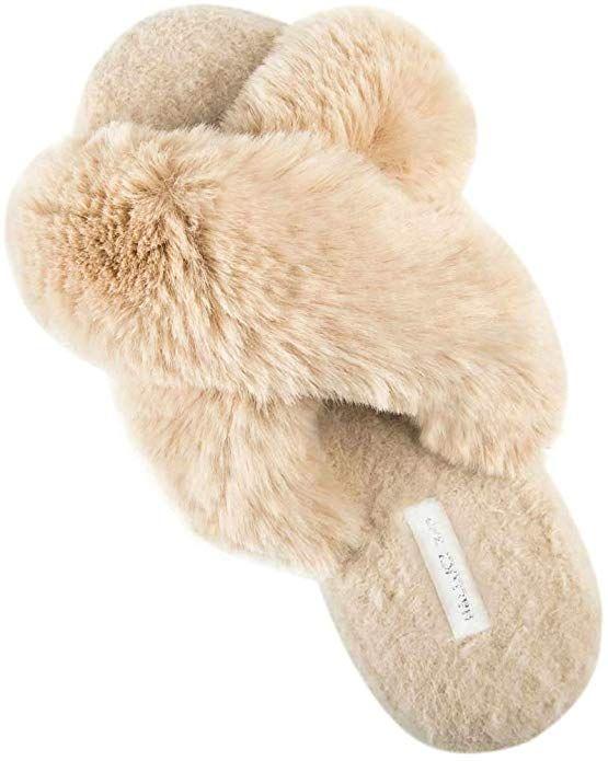 Amazon.com | HALLUCI Women's Cross Band Soft Plush Fleece House Indoor or Outdoor  Slippers | Slippers in 2020 | Outdoor slippers, Fuzzy slippers, Soft plush