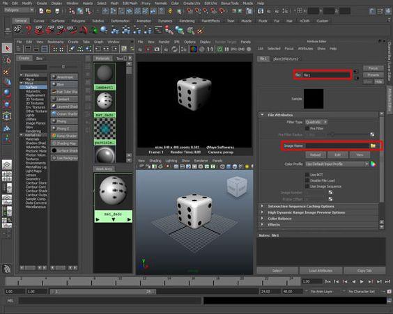 Creare un materiale con Bump e Riflessi in Maya http://www.sapereweb.it/creare-un-materiale-con-bump-e-riflessi-in-maya/ Ora per migliorare il suo aspetto possiamo attivare altri attributi del materiale Blinn, aggiungiamo un leggero Bump sui puntini neri e un leggero Riflesso sulla superficie del Dado. Accedi agli attributi del materiale mat_dado, selezionandolo dall'Hypershade. Nell'Attribute Editor, ricerca la vo...