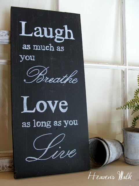 laugh ... love