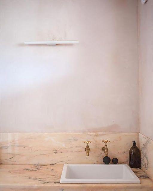 Un blog de decoración a mi manera... : Baños y cocinas en color rosa ...