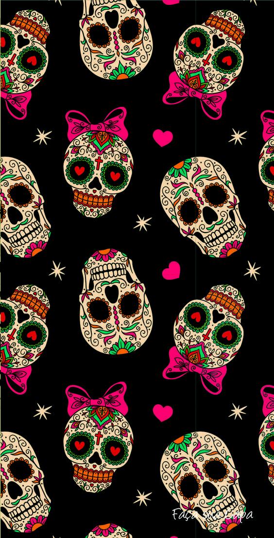 Top 59 Fondos De Pantalla De Calaveras Para Tus Dispositivos Moviles Fondodepantallaparatel Sugar Skull Wallpaper Skull Wallpaper Halloween Wallpaper Iphone