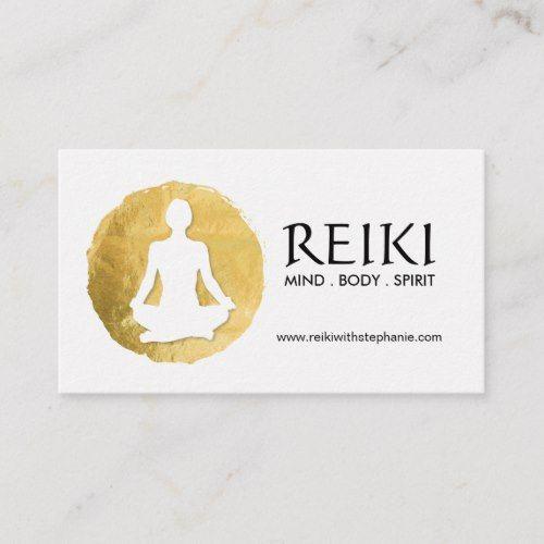 Yoga And Reiki Business Cards Zazzle Com Reiki Business Spiritual Business Card Yoga Teacher Business Cards