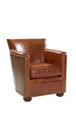 Leather Chair - Nottingham Bittersweet/Big Sky Apache