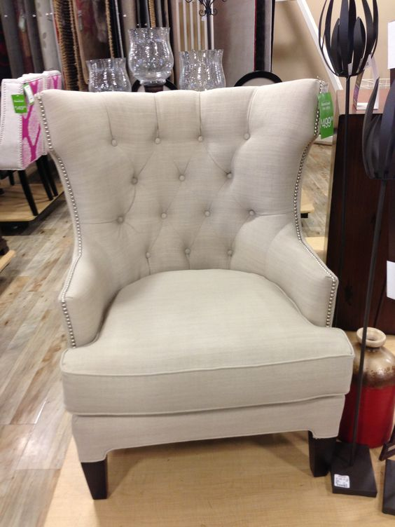 Best White Upholstered Tufted Chair Home Goods 500 00 Home 400 x 300