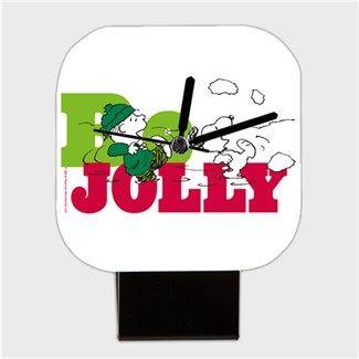 Snoopy Be Jolly Kendin Tasarla - Kare Masa Saati