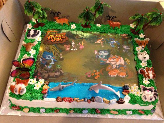 jam birthday cake animal jam cake animal jam birthday party ideas ...