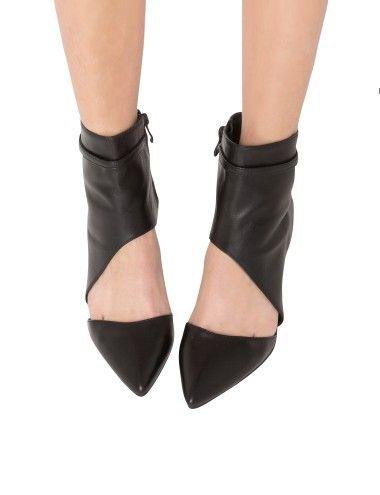 Erin Ankle Wrap Heels - Cute Black Cutout Heels - High Heels