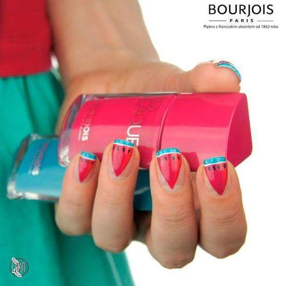 #nailydaily #nails2inspire #nailspiration #nailaetidea #nailart #nailpolish #bourjois #lalaque #summery #holiday #fresh #fruit #juicy #naiLove #mailspiration #watermelon #bourjois #lalaque #love #juicy @bourjois_polska