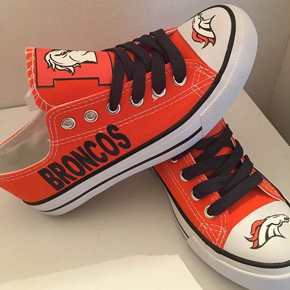 Denver Broncos Converse Shoes - http://cutesportsfan.com/denver-broncos-designed-sneakers/