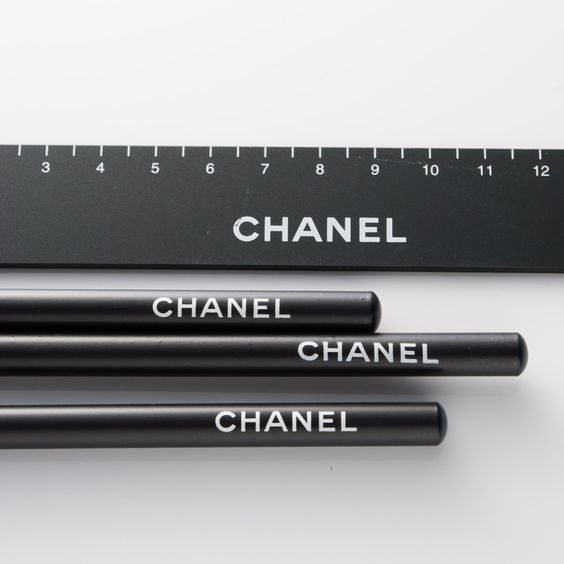 Luxury Stationary - Chanel Pencils and Ruler. WHATTT!!!! Have to get these!