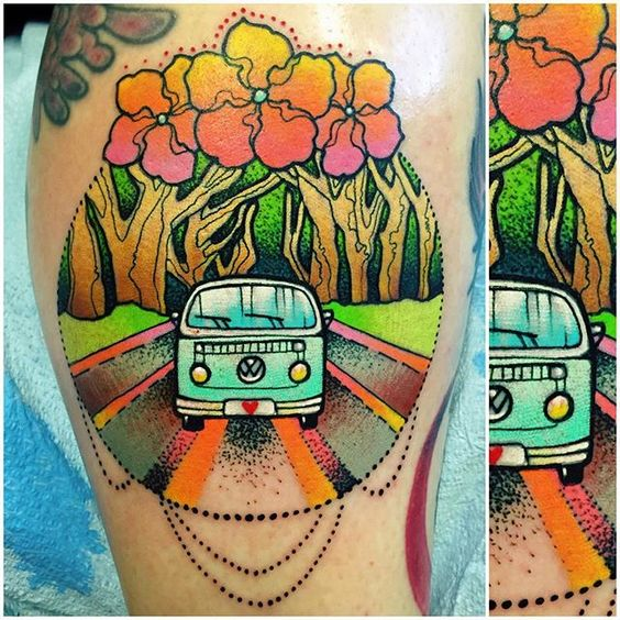 Charming Hippy van.