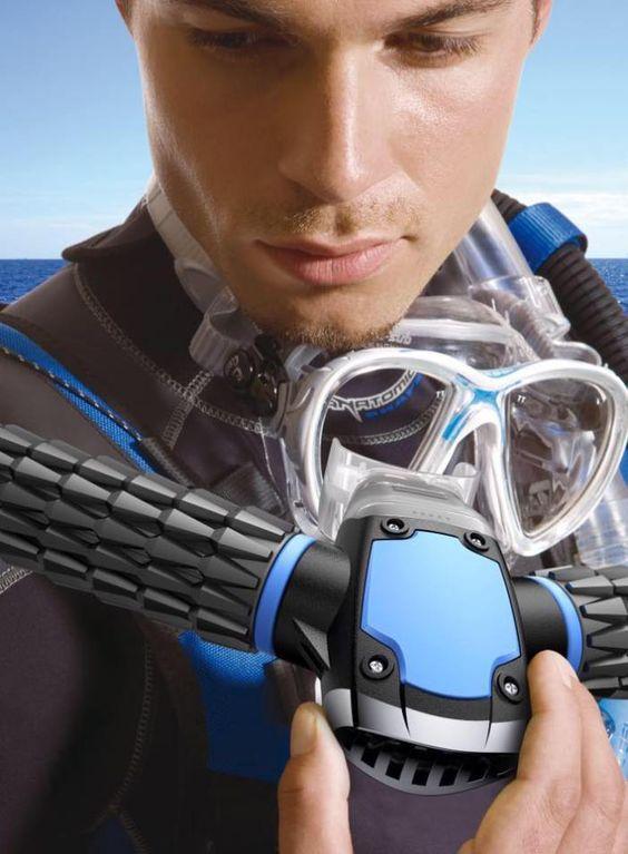 45 minutes sous l'eau grâce au respirateur Triton !