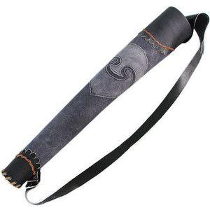 LPIF101730BKGY - Los arqueros de la aljaba de cuero - negro y gris - $ 46.95