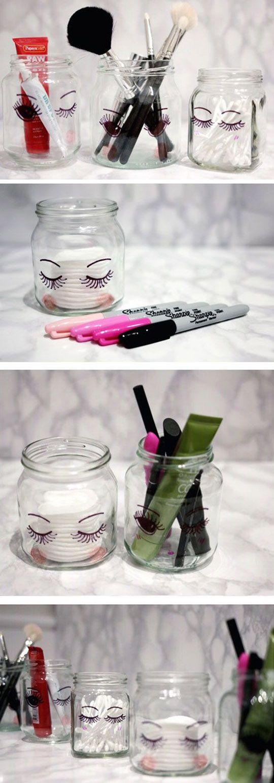 17 DIY Makeup Storage And Organization Ideas   Makeup storage, Diy ...
