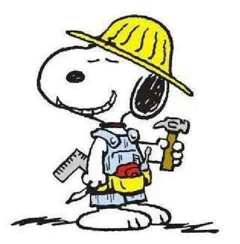 SNOOPY~carpenter Snoopy