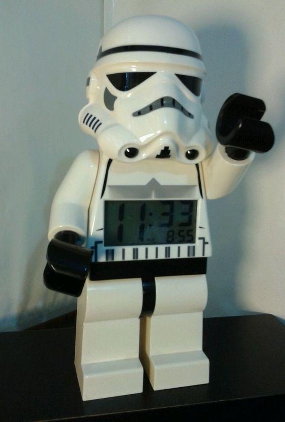 "LEGO Kids Star Wars Storm Trooper 9.5"" Mini figure Digital Alarm Clock EUC #Lego"