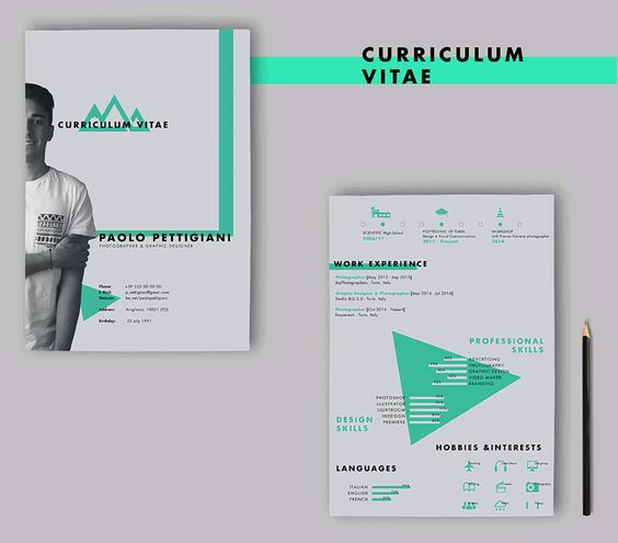 20 Beautiful \ Free Resume Templates for Designers - hobbies and interests on a resume