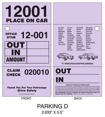 Another great parking ticket option, try 3 Part Valet Parking - valet parking resume