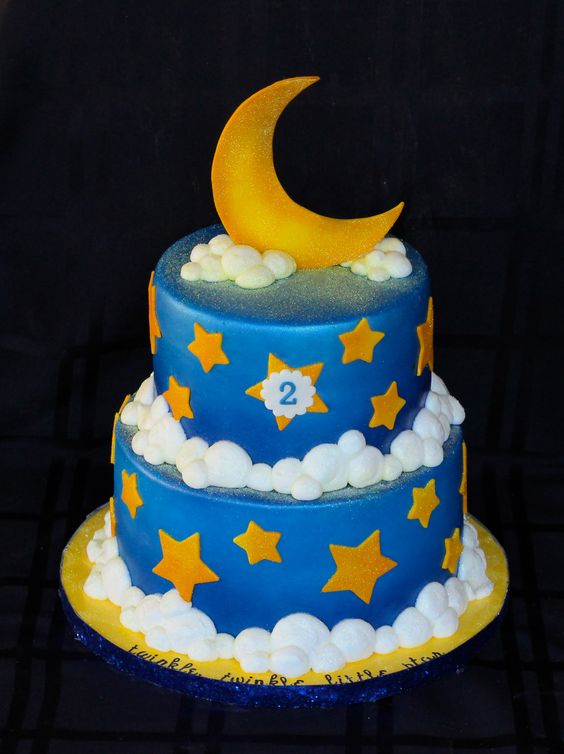 First Birthday Cake With Stars