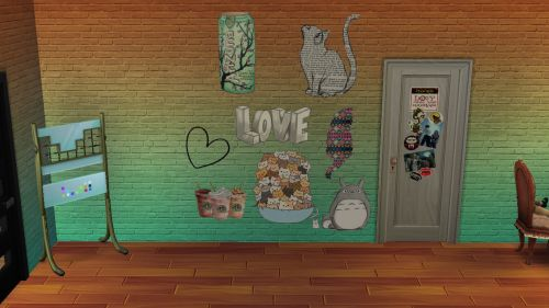 ok so I made a bunch of wall stickers because I needed them. you can download the individual set package file or if you want all there is a merged package file. Hopefully you like ^.^Credit : the Artists for their art. and the Sims4studioDo not claim as your own or reupload without permission and blah blahDownload Set 1- DropboxDownload Set 2- DropboxDownload Set 3- DropboxDownload Set 4- DropboxDownload Merged- Dropbox