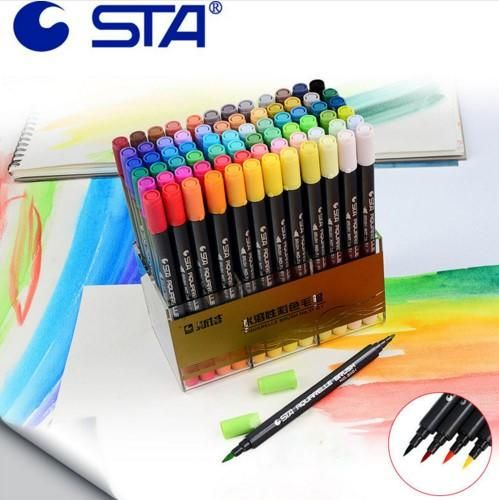 Sta Aquarelle Coloring Brush Pens Lapices De Acuarela