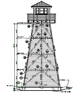 Water towers engineered plans for 4 story enclosed for Lookout tower plans