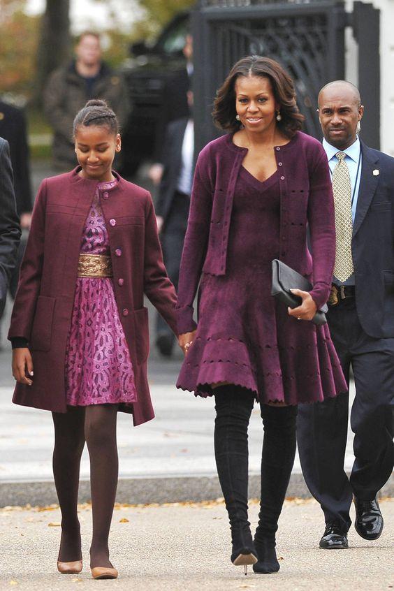 So many beautiful dresses! Michelle Obama's Best Dresses - Michelle Obama 50th Birthday Best Dresses - Harper's BAZAAR