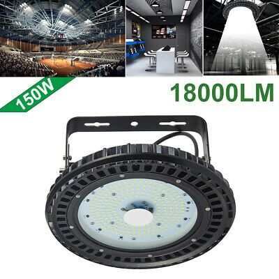 250W UFO LED High Bay Lamp Gym Factory Warehouse Industrial Shed Lighting