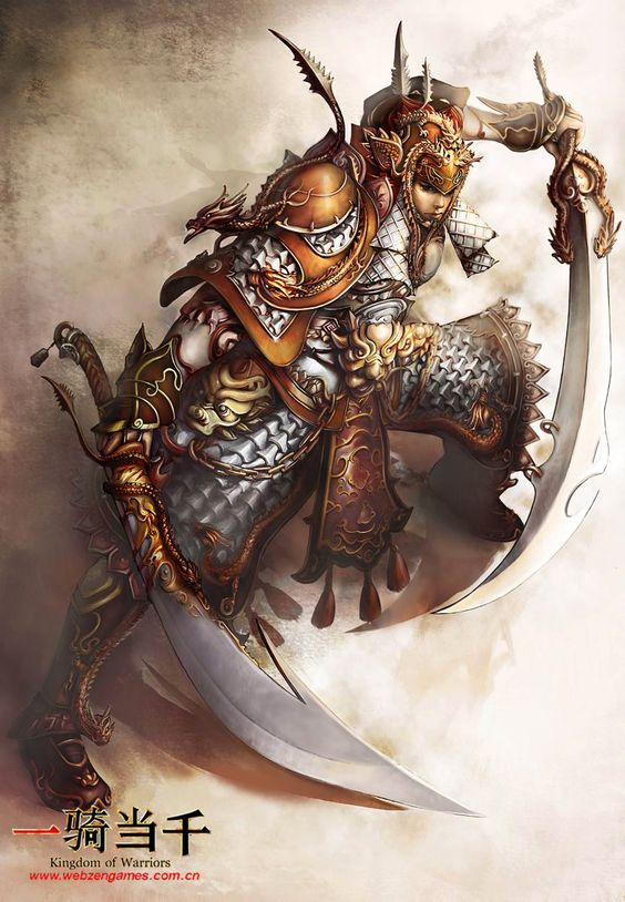 homme, humain, asiatique, samouraï, épée, ambidextre