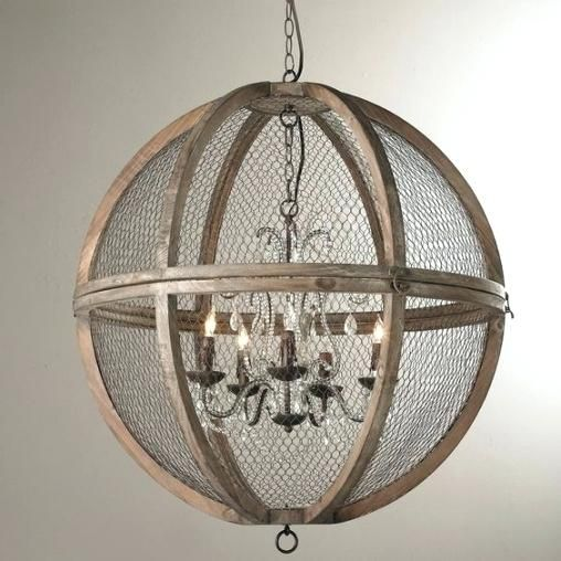 Wood And Crystal Chandelier Wire Sphere Large French Minis Frames