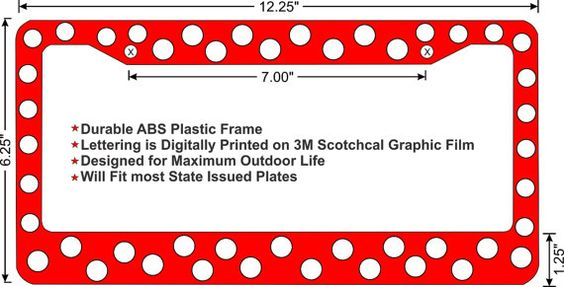 Polka Dot custom license plate frame 3 Color by ZombiePlates
