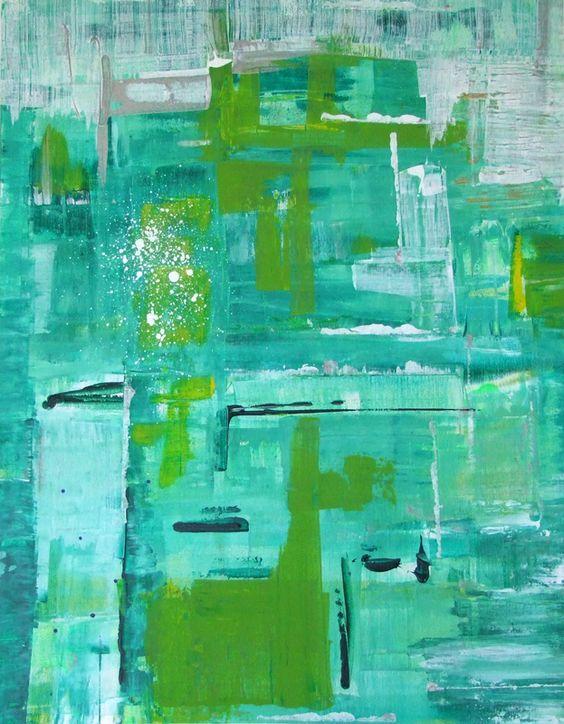 """Pools & Gardens"" Acrylic on canvas 28""x 22"""