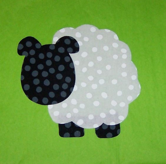 fabric applique template pattern only sheep new the head patterns and fabrics. Black Bedroom Furniture Sets. Home Design Ideas