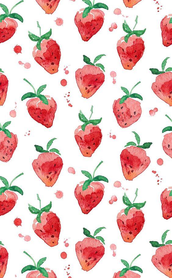 kawaii strawberry wallpaper vintage - photo #12
