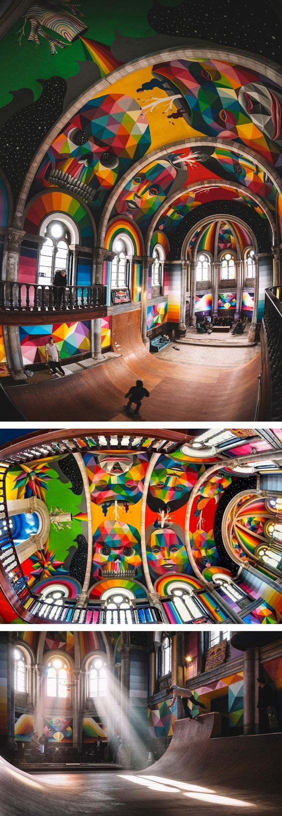 A 100-Year-Old Church in Spain Transformed into a Skate Park Covered in Murals…: