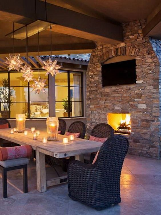 54 Exceptional Outdoor Living Spaces Fireplaces Outdoor
