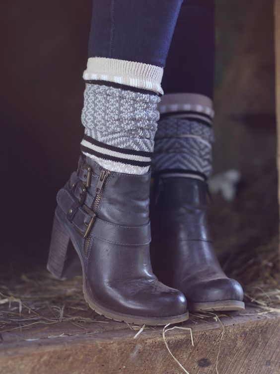 Altar'd State Take Me Out Bootie with our Gallery Boot Socks: