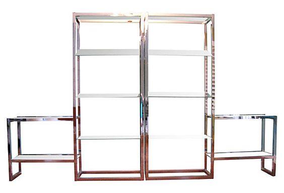 1970s Chrome Shelves, Pair on OneKingsLane.com