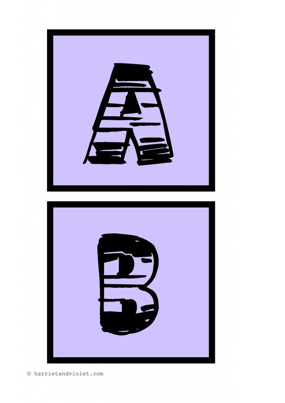 Comic Style A-Z capital letters