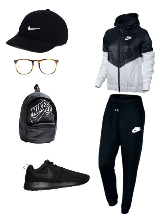 Exercise chic by mkaylairvin on Polyvore featuring polyvore, fashion, style, NIKE, Linda Farrow and clothing