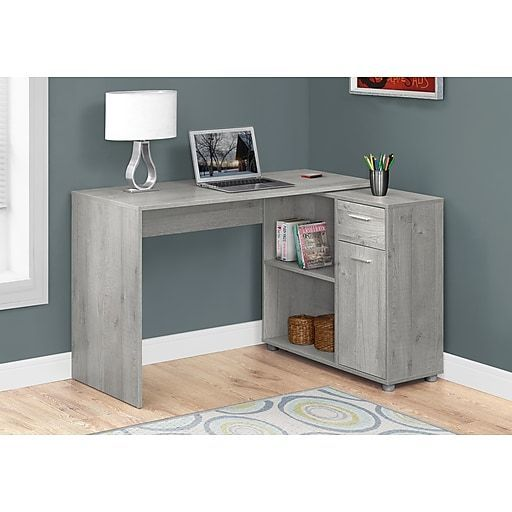 38 Diy Computer Desk That Really Work For Your Home Office In 2020 Grey Desk Grey Office Desk Cheap Office Furniture
