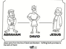 Abraham, David and Jesus Coloring Page