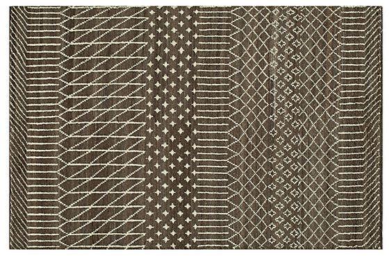 Maurice Rug, Brown | High Impact | One Kings Lane  Wool 5x8
