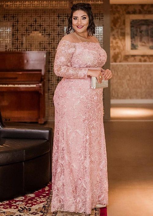 Vestido de festa plus size rose: 10 modelos para usar em 2019
