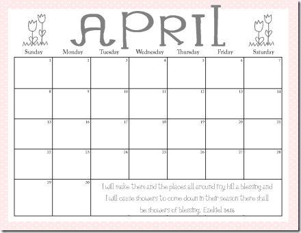 free april newsletter template - free printable april calendars printables pinterest