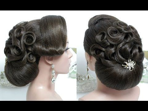 Bridal Updo Wedding Prom Hairstyle For Long Hair Tutorial Youtube Bridalhairstyle Wedding Bun Hairstyles Long Hair Tutorial Hair Tutorial