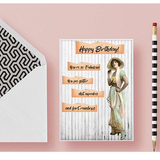 Funny birthday card for her, Birthday card for best friend - printable best friend birthday cards