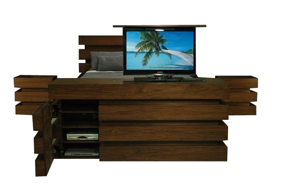 revamp your bedroom with luxury tv lift cabinet bed sets from cabinet