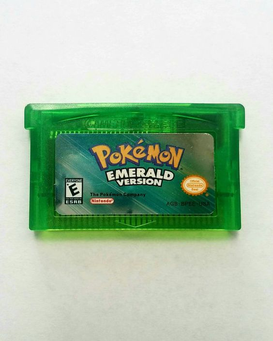 Pokemon Emerald for GBA Free shipping. https://www.etsy.com/listing/474480939/pokemon-emerald-version-nintendo-game